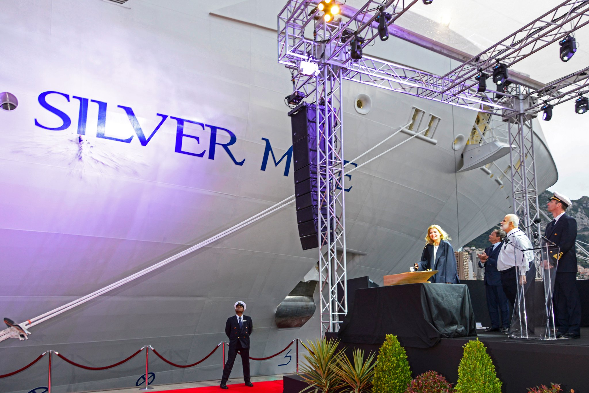 Silversea Cruises Christens New Silver Muse in Monaco
