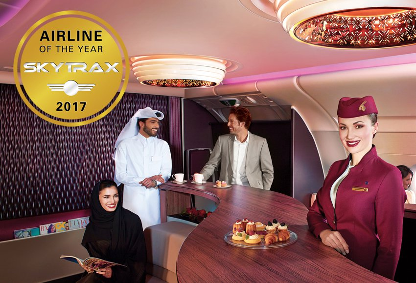 Qatar Airways Named World's Best Airline 2017 - Skytrax 2017 World Airline Awards